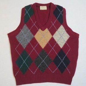 The Moors Lord Jeff Shetland Wool Argyle Sweater